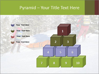 A ski patrol helping PowerPoint Templates - Slide 31
