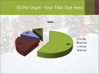 A ski patrol helping PowerPoint Templates - Slide 35