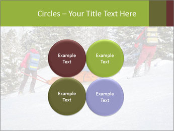 A ski patrol helping PowerPoint Templates - Slide 38