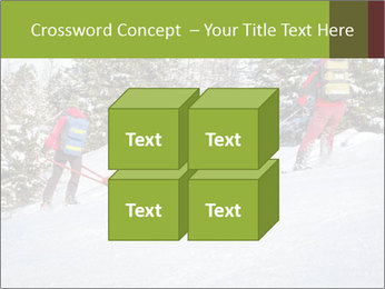 A ski patrol helping PowerPoint Templates - Slide 39