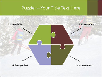 A ski patrol helping PowerPoint Templates - Slide 40