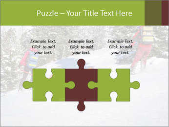 A ski patrol helping PowerPoint Templates - Slide 42