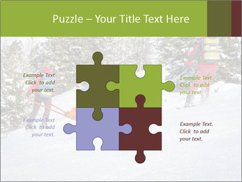 A ski patrol helping PowerPoint Templates - Slide 43