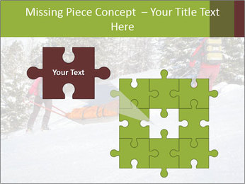 A ski patrol helping PowerPoint Templates - Slide 45
