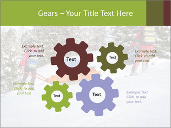 A ski patrol helping PowerPoint Templates - Slide 47
