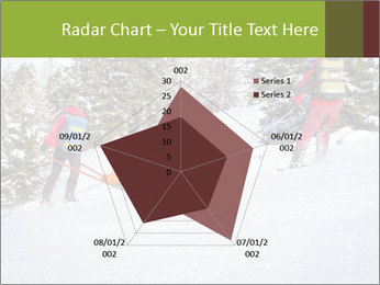 A ski patrol helping PowerPoint Templates - Slide 51