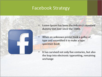 A ski patrol helping PowerPoint Templates - Slide 6
