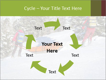 A ski patrol helping PowerPoint Templates - Slide 62