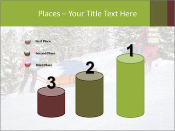 A ski patrol helping PowerPoint Templates - Slide 65