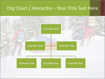 A ski patrol helping PowerPoint Templates - Slide 66