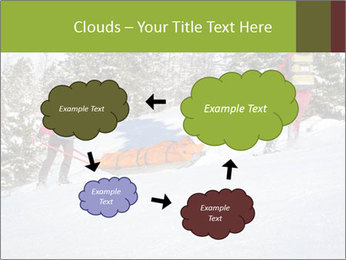 A ski patrol helping PowerPoint Templates - Slide 72