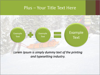 A ski patrol helping PowerPoint Templates - Slide 75