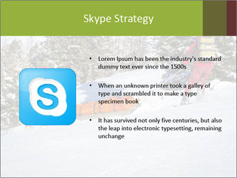 A ski patrol helping PowerPoint Templates - Slide 8
