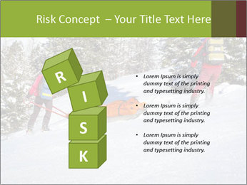 A ski patrol helping PowerPoint Templates - Slide 81