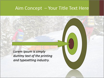 A ski patrol helping PowerPoint Templates - Slide 83