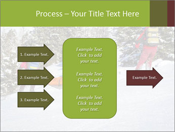 A ski patrol helping PowerPoint Templates - Slide 85