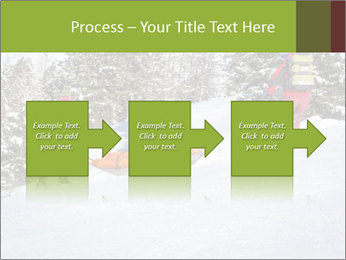 A ski patrol helping PowerPoint Templates - Slide 88
