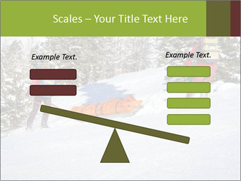 A ski patrol helping PowerPoint Templates - Slide 89