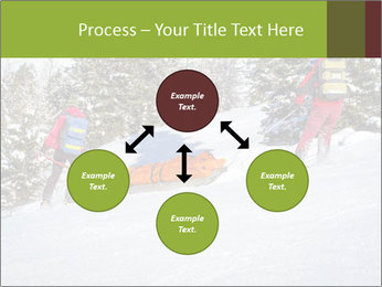 A ski patrol helping PowerPoint Templates - Slide 91