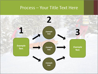 A ski patrol helping PowerPoint Templates - Slide 92