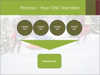 A ski patrol helping PowerPoint Templates - Slide 93