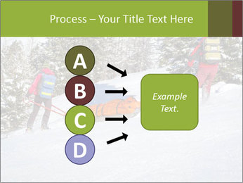 A ski patrol helping PowerPoint Templates - Slide 94