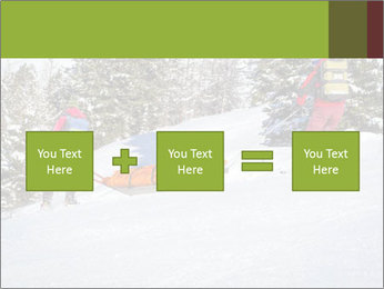 A ski patrol helping PowerPoint Templates - Slide 95