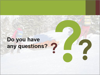 A ski patrol helping PowerPoint Templates - Slide 96