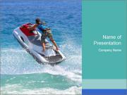 Man on jetski jump PowerPoint Templates