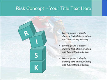 Man on jetski jump PowerPoint Template - Slide 81
