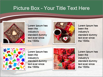 Blue cup with red heart PowerPoint Template - Slide 14