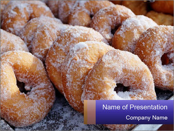 Malaysian donuts PowerPoint Template - Slide 1