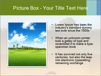 Tropical golf course at sunset PowerPoint Templates - Slide 13