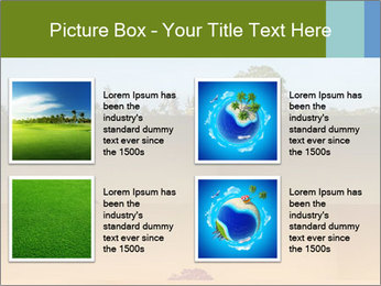 Tropical golf course at sunset PowerPoint Templates - Slide 14