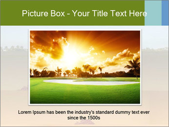 Tropical golf course at sunset PowerPoint Templates - Slide 15