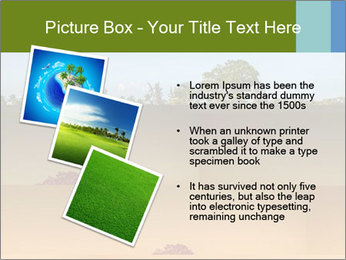 Tropical golf course at sunset PowerPoint Templates - Slide 17