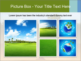 Tropical golf course at sunset PowerPoint Templates - Slide 19