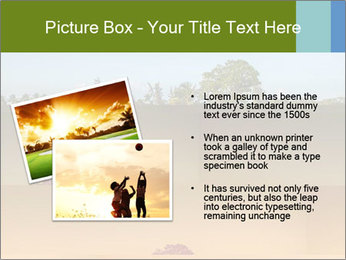 Tropical golf course at sunset PowerPoint Templates - Slide 20