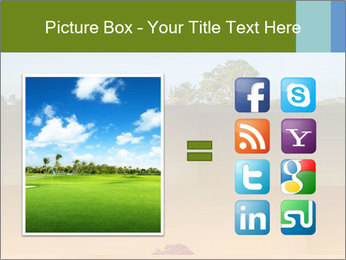 Tropical golf course at sunset PowerPoint Templates - Slide 21