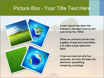 Tropical golf course at sunset PowerPoint Templates - Slide 23
