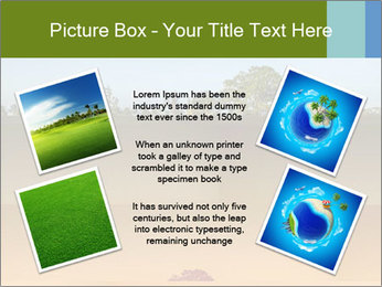 Tropical golf course at sunset PowerPoint Templates - Slide 24