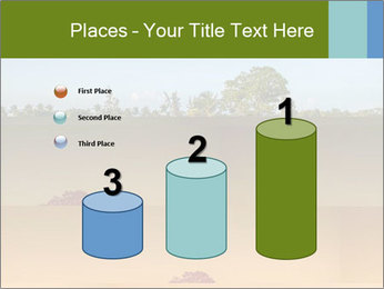 Tropical golf course at sunset PowerPoint Templates - Slide 65