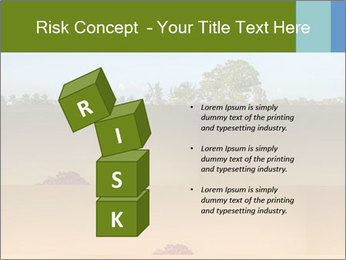 Tropical golf course at sunset PowerPoint Templates - Slide 81
