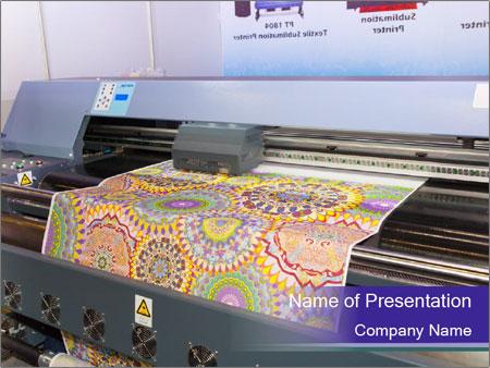 Digital textile belt printer PowerPoint Templates
