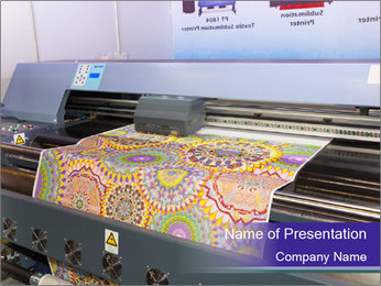 Digital textile belt printer PowerPoint Template - Slide 1
