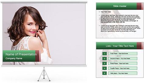 Portrait of mature woman PowerPoint Template