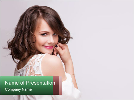 Portrait of mature woman PowerPoint Templates