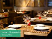 Fine table setting PowerPoint Template