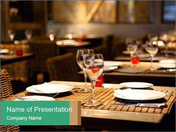 Fine table setting PowerPoint Templates - Slide 1