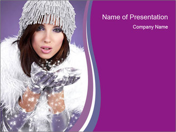 A winter woman smiling PowerPoint Template